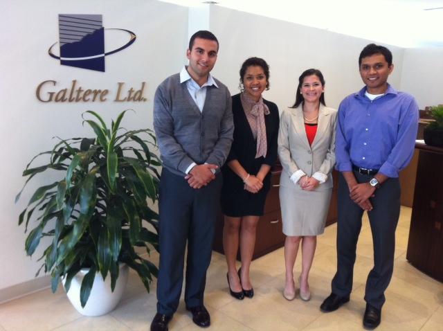 Left to right: Mohammed Ali, Jazmine Logan, Maria Pecora-Omana Harshil Patel
