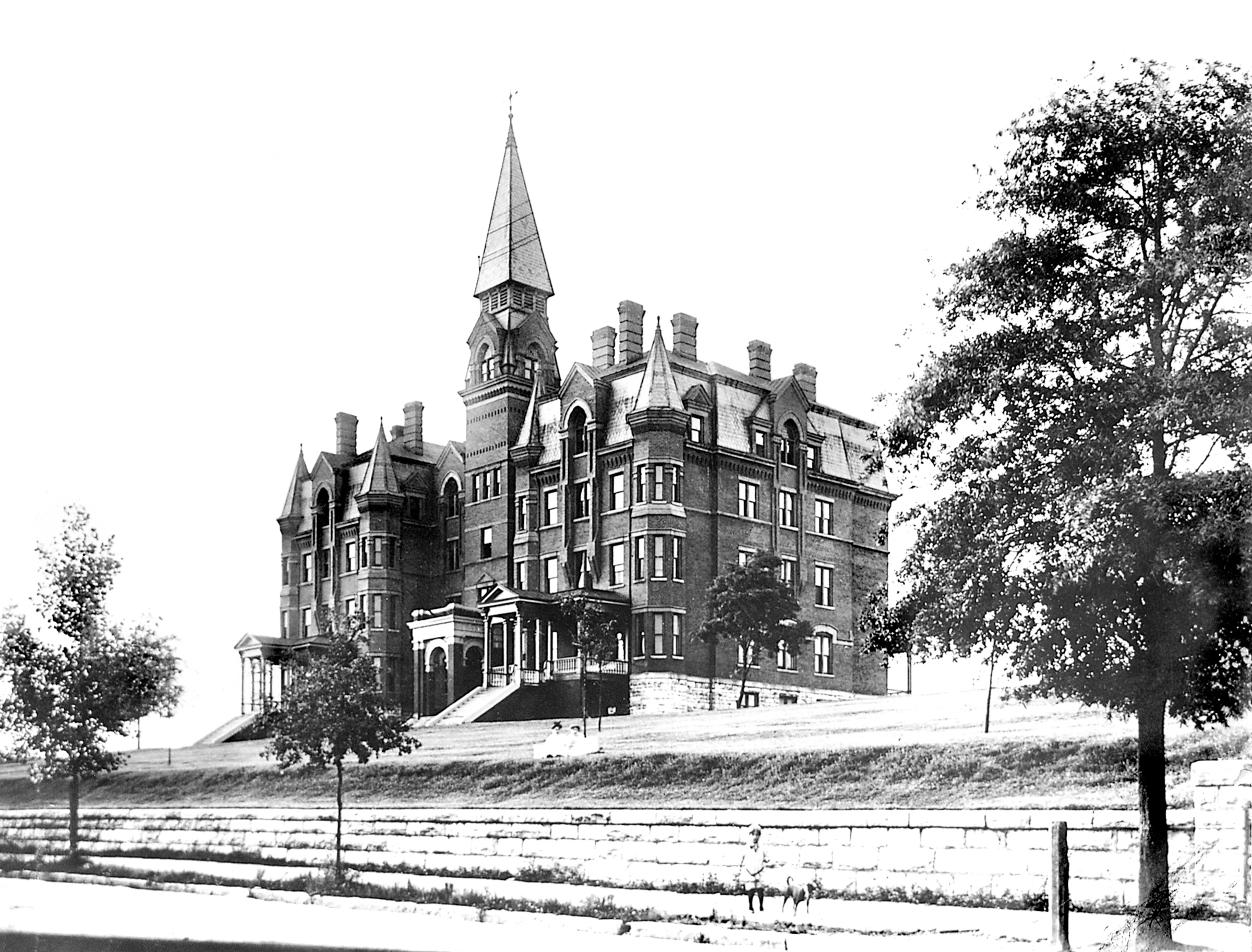 Old Main, the University's first campus building