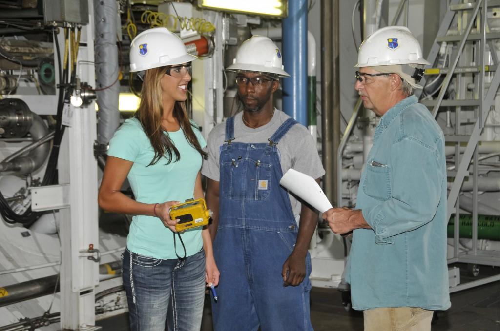Dacey Winkleman (left) at her internship