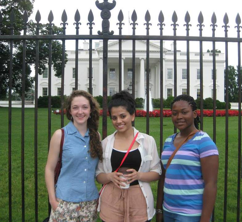 JasLynn Murphy (far right) visits the White House during her internship this past summer.