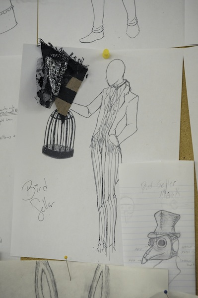 A costume sketch from a recent UTC Theatre production