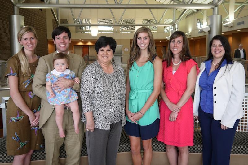 Annie Swansbrough, James Swansbrough holding Wynton Swansbrough, Mary Swansbrough,  Dacey Cockrill, Christy Swansbrough, Dr. Michelle Deardorff