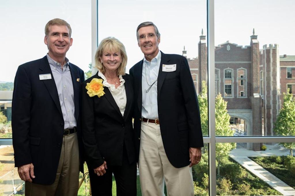 Chancellor Steve Angle, Sue Chamberlain, Morrow Chamberlain