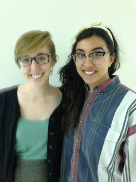 From left: Kaitlin Cottle and Sania Khan