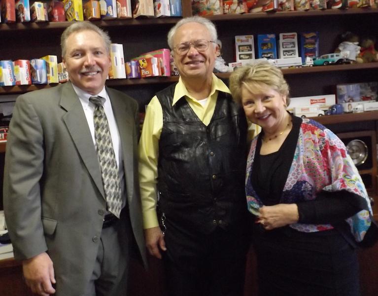 From left: Perry Storey, Ellsworth McKee, Dr. June Scobee Rodgers