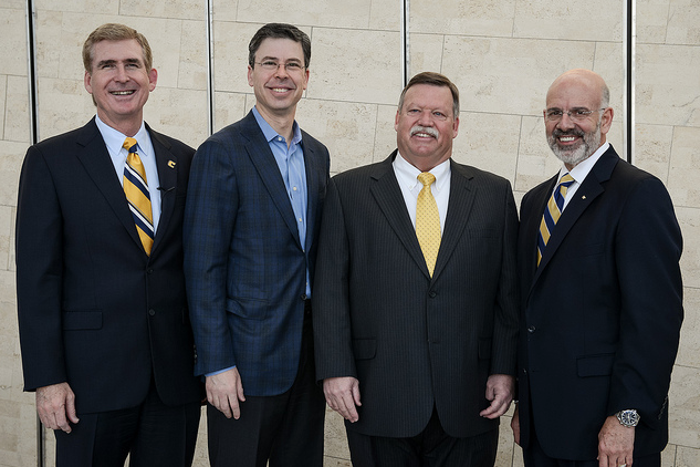 Left to right: UTC Chancellor Dr. Steve Angle, City of Chattanooga Mayor Andy Berke, Hamilton County Mayor Jim Coppinger, and University of Tennessee President Dr. Joe DiPietro