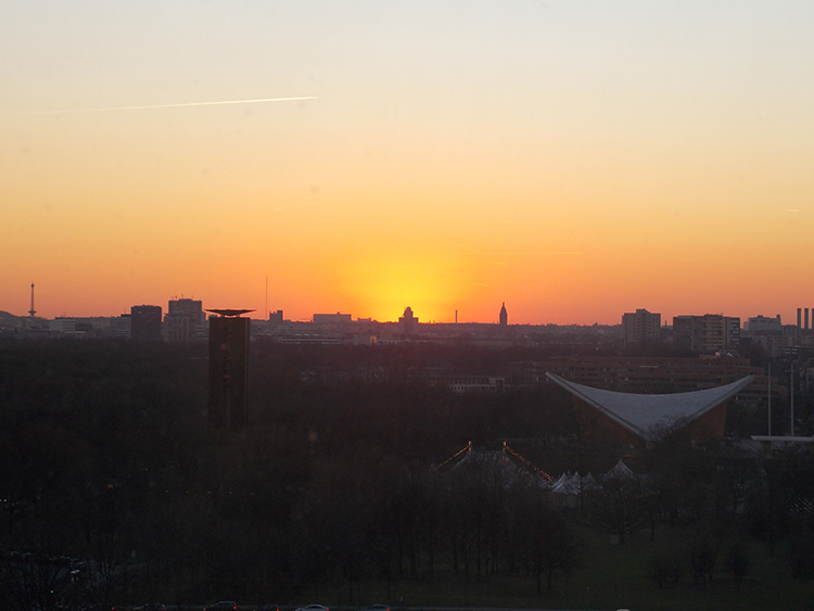 Sunset from the Reichstag