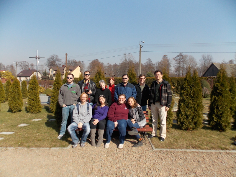 UTC group on the grounds of the Harmeze Monastery, located in Oswiecim.