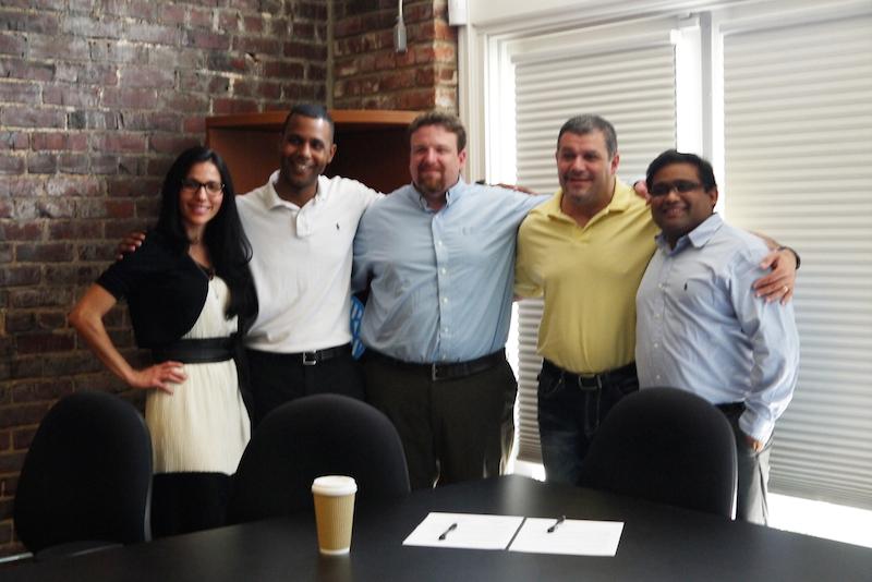 Left to right: Cigna employee Eliza DeLaughter, CEO of FwdHealth Shayne Woods. CTO of FwdHealth Flynn Williford, CEO of Picture Wellness Maurice Saliba, UTC Professor Dr. Ashish Gupta