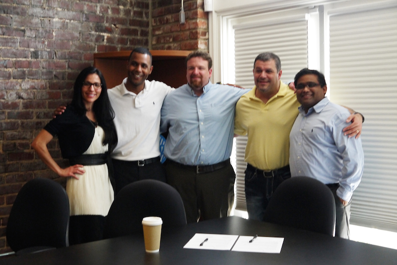 Left to right: Cigna employee Eliza DeLaughter, CEO of FwdHealth Shayne Woods. CTO of FwdHealth Flynn Williford, CEO of Picture Wellness Maurice Saliba, UTC Professor Dr. Ashish Gupta