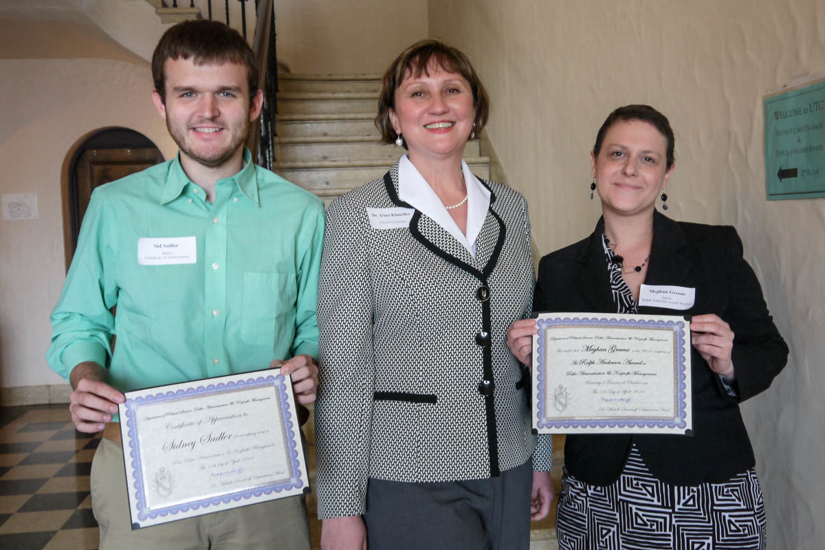 Left to right: Sid Sadler, Dr. Irina Khmelko, and Meghan Greene