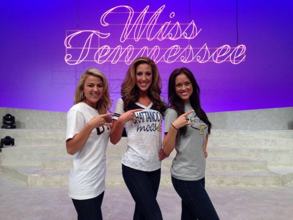 Photo by Lexi White. Taken at the 2014 Miss Tennessee Scholarship Pageant in Jackson, Tennessee. From left to right: Lexi White, Miss Historic Jonesborough; Dacey Winkleman, Miss Capital City; Ashley Broockman, Miss Watauga Valley.
