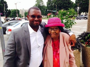Anthony Williams and his Grandmother