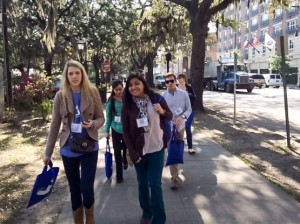 Brock Scholars Walking in Savannah