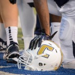 Mocs Football Helmet on Field