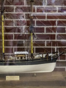Dr. Bryan Hampton and Dr. Chris Stuart honored with model ship dedication