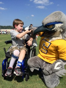 Scrappy makes new friends at Children's Fair