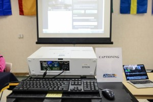 Captioning Computer at the Accessible Technology Fair