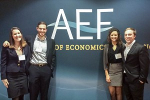 Economics students present research at AEF Conference
