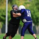 Youth American Football blocking