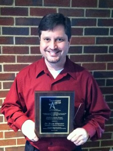 Kluesner receives Dona Sparger Professional Service Award