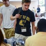 Student at Freshman Orientation