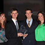 Drs. Dan Dotson and Kevin Kostka receiving 2015 Small Business Award