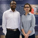 Graduate students Mariana Kamel and Haytham Saeed