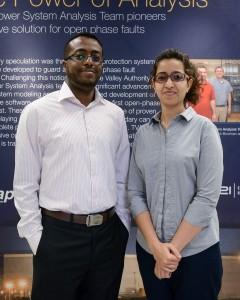 Graduate students Mariana Kamel and Haytham Saeed