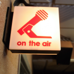 On The Air Light above Radio Station