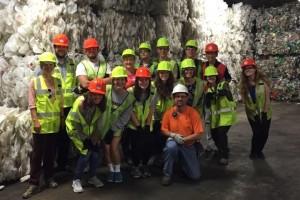 Lisa Darger's Class at RockTenn Recycling