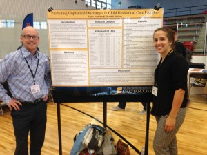 Social Work seniors presenting research
