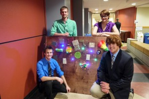 Engineering students Braxton Tawry, Casey Hale, Katie Zager, and Wesley Donesky at the 2015 Engineering Showcase.