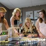 Interior Design students at work