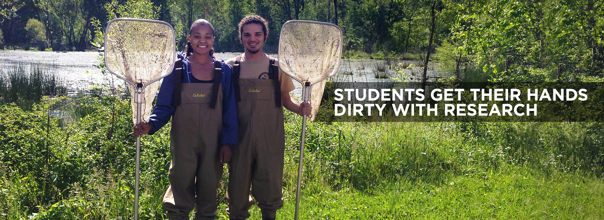Students get their hands dirty with research.