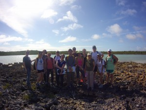 Students at Moonrock Pond