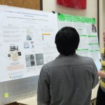 "UTC Student Megan Downs presenting her poster, ""Cost-Effective Synthesis of Iron Oxide Nanoparticles Towards Sustainable Nanotechnology"" at Research Dialogues"