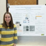 "UTC Student Megan Downs with her poster, ""Cost-Effective Synthesis of Iron Oxide Nanoparticles Towards Sustainable Nanotechnology"" at Research Dialogues 2016"