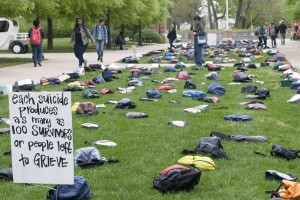 Send Silence Packing raises suicide awareness on Campus