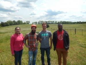 Amee Patel, Matt Joplin, Dr. Daniel Loveless, and Samaa Davies shortly after launch or MOC1 in Chickamauga, GA