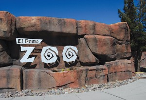 The front entrance to the El Paso Zoo, where Marshall serves as Director.
