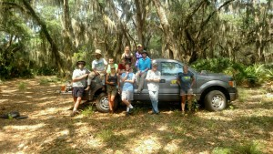The archaeology field crew at Sapelo Island