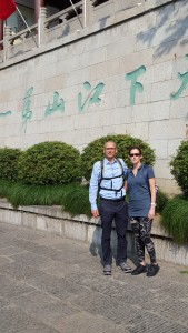 Dr. Gary Liguori with fellow US presenter, Dr. Melanie Poudevigne in Wuhan, China