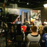 GEAR UP students producing a talk show at the UTC TV Studio