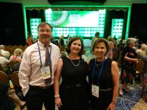 Dr. David Levine, Dr. Nancy Fell, and Dr. Debbie Ingram at APTA