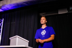 Dr. Daniel Loveless presents at GIGTANK 365 Pitch Night