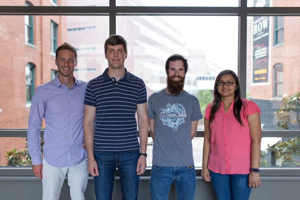 From left to right: Dr. Daniel Loveless, Daniel Johnson, Matt Joplin, Amee Patel