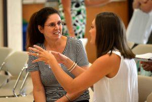 teachers talks at student-teacher mentor day