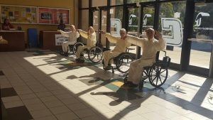 Dr. Zibin Guo and others demonstrate WCTCC during Veterans Appreciation Week. Photo via UTC Veteran Student Services