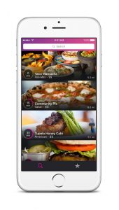 A smartphone displaying the Get Seated restaurant search screen